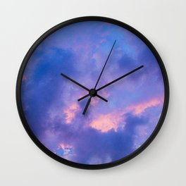 Dusk Clouds Wall Clock