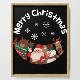 Merry Christmas design Funny Gift for Xmas Lovers Serving Tray