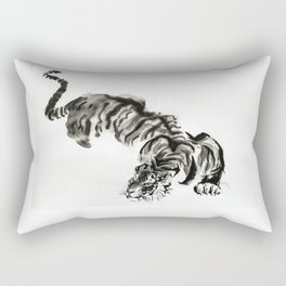 tiger watercolor japan style chinese ink Rectangular Pillow