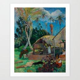 Paul Gauguin - The Black Pigs (1891) Art Print