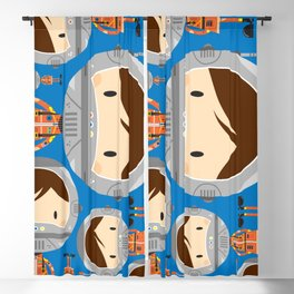 Cute Cartoon Astronaut Pattern Blackout Curtain