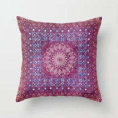 Old Bookshop Magic Mandala Throw Pillow