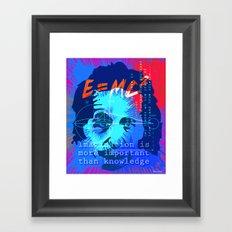 HOMAGE TO EINSTEIN Framed Art Print