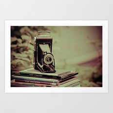 There's something about cameras, book and travel... Art Print