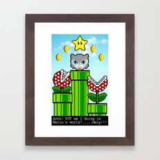 Arch in Mario´s world  Framed Art Print