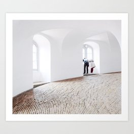 Curiosity in Copenhagen Art Print