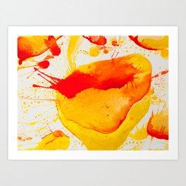 Orange Study Art Print