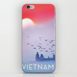 Vietnam fishing poster, iPhone Skin