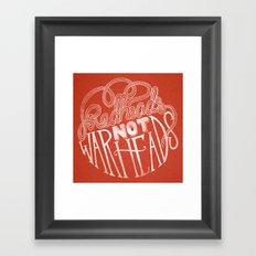 Redheads Not Warheads Framed Art Print