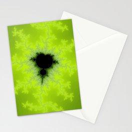 Fractal Mandelbrot Green Stationery Cards
