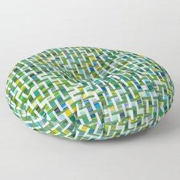 Unmixed Greens with Basket Weave Floor Pillow