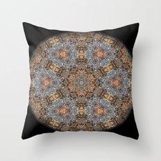 Lacebark Elm Tree Mandala #3513 Throw Pillow