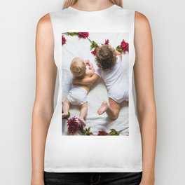 Love Roses Babies (Color) Biker Tank