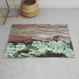 Tree Bark Pattern with Lichen #1 Rug