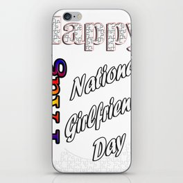 Aug 1st National Girlfriends Day Fun Gift Idea Design iPhone Skin