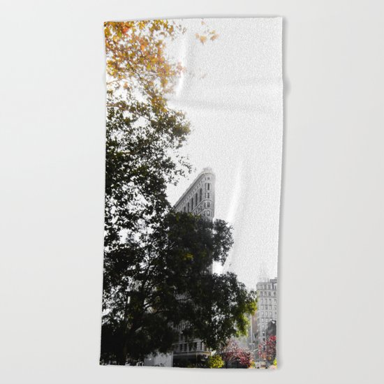 Flatiron Autumn Beach Towel