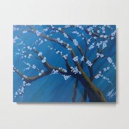 Almond tree in Spring Metal Print