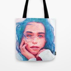 With the wind (Watercolor Painting) Tote Bag