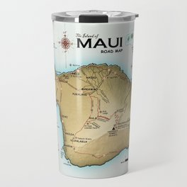 Maui [Atlas Inspired] Points of Interest Road Map Travel Mug