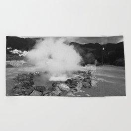 Hot spring Beach Towel