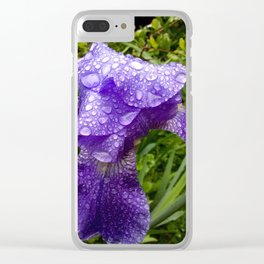 Iris after rain Clear iPhone Case