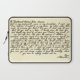 Alexander Hamilton Letter to John Laurens Laptop Sleeve