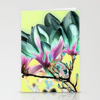 aelwen Stationery Cards featuring MAGNOLIA - PopArt by CAPTAINSILVA