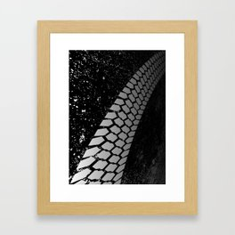 Grunge Skid Mark Framed Art Print