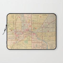 Vintage Map of Auburn NY (1904) Laptop Sleeve