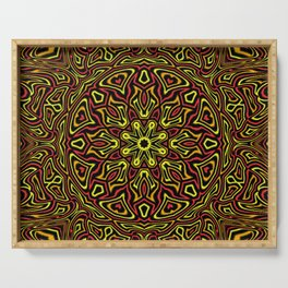 Red Orange and Yellow kaleidoscope Serving Tray