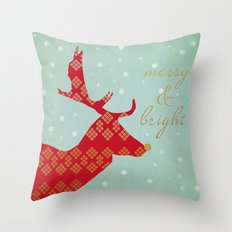 Merry & Bright Throw Pillow