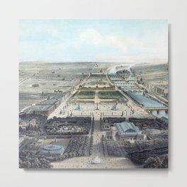 Vue générale de Paris avant 1870 Metal Print