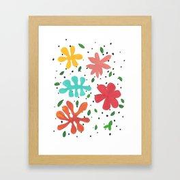 Tropical Leaves Two Framed Art Print