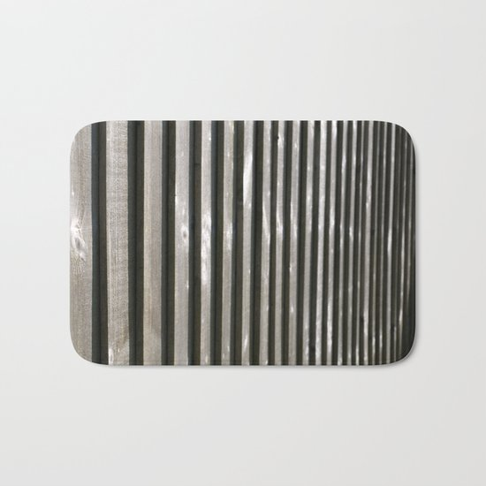 PARALLEL LINES SHADES OF GREY Bath Mat