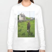 irish Long Sleeve T-shirts featuring Irish Cottage by Kim Ramage