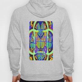 Colorful Fantasy Decorative Butterfly Blue-purple Worlds Patterns Hoody