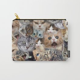 Many expressions of Cats Carry-All Pouch