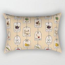 Tea Tag Time Rectangular Pillow