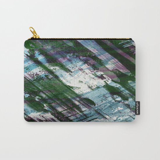 Escape! - Green, purple and cyan metallic abstract art Carry-All Pouch