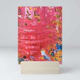 Red Abstraction Mini Art Print