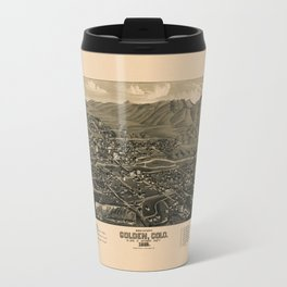 Map Of Golden 1882 Travel Mug