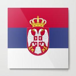 Serbia flag emblem Metal Print