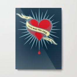 Rubino Blood Heart Metal Print