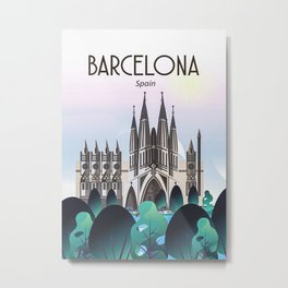 Barcelon Spain Poster Metal Print