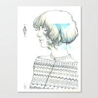 diamond Canvas Prints featuring Diamond by TamSanSerif