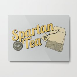 Spartan Tea Metal Print
