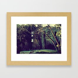 Old garden keeps secrets Framed Art Print