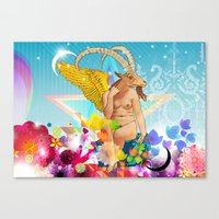baphomet Canvas Prints featuring Baphomet by rodalume