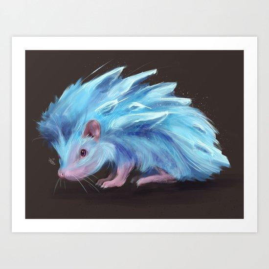 Ice Hedgehog Art Print