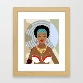 Black Queen Framed Art Print